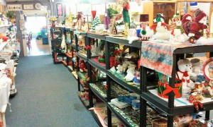 All the shelves were packed with Christmas treasures!