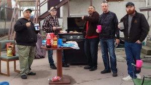 The guys in Nampa pulled together a BBQ Sunday after church! The first ever at this facility.