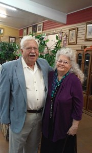 Pastor Bob and his lovely wife.  Pastor Bob has been a pastor for over 60 years and we are honored to have him teach our Bible Studies during the week in our homes.  He always has a glimmer in his eye and a dance in his step!