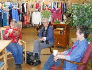 Some of our dear ladies stayed and visited for a fun afternoon.