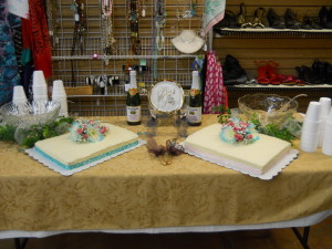 The cakes were creations from an amazing local bakery